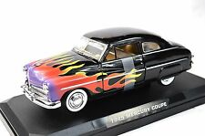 MERCURY COUPE 1949 '49 CUSTOM HOT ROD FLAMES MOTORMAX 76618 1:24 NEW MODEL BLACK