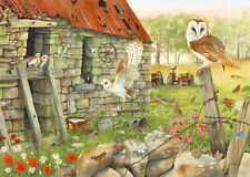 The House Of Puzzles - 1000 PIECE JIGSAW PUZZLE - Dawn Flight Barn Owls