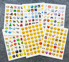 48 Die Cut Emoji IPhone Twitter Smile Expression Face Sticker Pack Mobile Decor