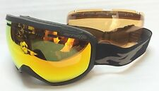 NEW Arnette Skylight Black Red Mirror +Persimmon Mens Goggles 2015 Msrp$170