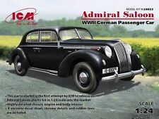 ICM 1/24 Opel Admiral Saloon WWII German Passenger Car # 24023