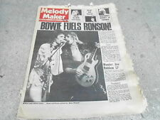 JAN 26 1974 MELODY MAKER music magazine DAVID BOWIE