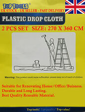 MultiPurpose Plastic Drop Cloth for Floor/Carpet/Furniture Dust Protection Cover
