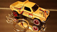 Subaru Brat Key Chain Ring Light Tan Diecast 3D Fob