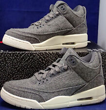 Nike Air Jordan 3 III Retro Wool Dark Grey Sail SZ US 7 ( 854263-004 )