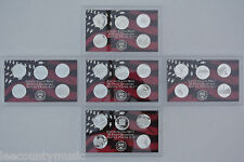2004 - 2008-S Cameo Proof Silver Washington State Quarter Sets with Boxes & COAs