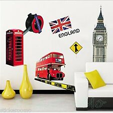 British poster london paysage couloir mur art stickers décalcomanie décoration
