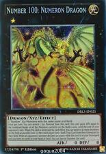 YuGiOh Number 100: Numeron Dragon DRL3-EN021 Secret Rare 1st Edition