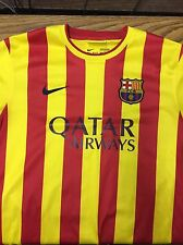NWT Nike 2013 2014 FC Barcelona Jersey Shirt Camiseta Short Sleeve Large Away