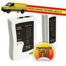 COMPROBADOR DE CABLES DE RED ETHERNET Y TELEFONO RJ11 RJ12 RJ45 ISDN CAT5 CAT6
