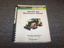 Timberjack 360 460 Cable Skidder Owner Operator Maintenance Manual Book F290090