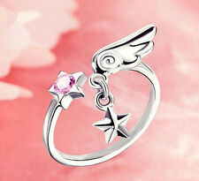 Card Captor Sakura Ring Pendant 925 silver Adjustable
