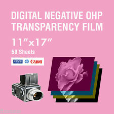 "OHP Digital Negative Transparency Film 11"" x 17"" - 50 Sheets"