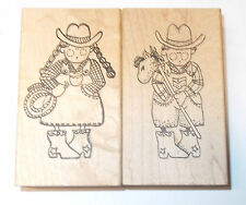 Southwestern Cowgirl Cowboy rubber stamp set Cute My heart stamps for you mount