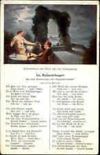 """Musik Motiv-AK ~1910 Musikverlag Gerdes Köln, """"Im Rolandsbogen"""" Rhein-Roman"""