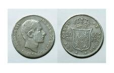 ESPAÑA.  ALFONSO XII.  20 CENTAVOS DE PESO 1884 MANILA.    BC+