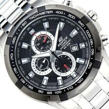 CASIO EDIFICE Chronograph 100M EF539D-1A EF-539D-1A Black Free Ship!