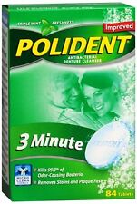 Polident 3 Minute Tablets 84 Tablets (Pack of 2)