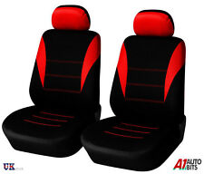 QUALITY RED-BLACK FABRIC FRONT SEAT COVERS FOR FIAT DOBLO 1+1 NEW