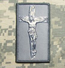 JESUS CHRIST CROSS CRUSADER USA MILITARY ISAF TACTICAL ACU VELCRO MORALE PATCH