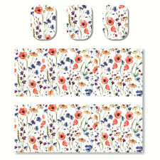 1 Sheet Nail Art Water Transfer Decal Manicure Sticker Colorful Flowers Pattern