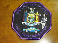 NEW YORK STATE POLICE TROOP  G ALBANY HEADQUARTERS  STATE TROOPER PATCH