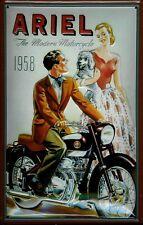 Blechschild Ariel 1958 Motorrad Nostalgieschild Schild 20x30