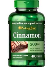 CINNAMON WEIGHT LOSS HEALTHY METABOLISM 500mg DIETARY SUPPLEMENT 400 CAPSULES