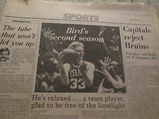 BOSTON CELTICS- LARRY BIRD'S 2ND SEASON-APRIL 3,1981-PLAYOFFS START GLOBE  PAPER