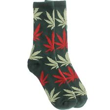 $12.00 HUFAC34009FPG HUF Plantlife Crew Socks (green / forest / pink / light gre