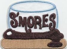 Girl Boy Cub SMORES Big Marshmallow Fun Patches Crest Badges SCOUT GUIDE S'Mores