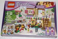 LEGO Friends HEARTLAKE FOOD MARKET 41108 Mia Maya cat vegetable shop apartment