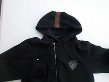 Authentic Gucci Men's Black Hooded Jacket Size Medium M
