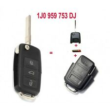 Folding Remote Key 3 Button 315MHz For Volkswagen 1J0 959 753 DJ With ID48 Chip