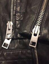 $650 ALL SAINTS GRIFFIN Black Leather Biker Jacket Men's XXL 2 XL