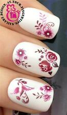 NAIL ART WATER TRANSFER STICKERS DECALS DECORATION FLORAL ROSES DAISY BIRD #180