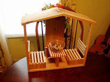 Handmade Cedar Cafe/Table & Chairs Squirrel Feeder w/ Roof