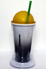 NWT STARBUCKS CHISELED OMBRE COLD CUP YELLOW DOME LID TRAVEL TUMBLER TO GO 16OZ-