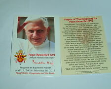6-  POPE BENEDICT XVI Holy Cards New Rememberance of his pontificate