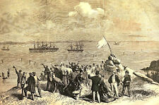 Trinity Bay Newfoundland Canada GREAT EASTERN Atlantic Cable 1866 Print Matted