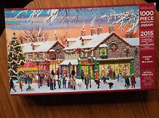 """Jigsaw, intitolato """"UNA CITTA 'del mercato di Natale"""" panoramico 2015 Ltd Edition"""