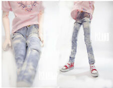 New 1/4 Doll Clothes Fashion handsome light Blue A Pair Of Jeans Bjd Clothes