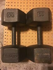 Vintage Ivanko 60 LB Hex Dumbbell Set, Collectible, Hard To Find