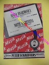 RARO SPARTITO SINGOLO Suona fisarmonica LARICI Notte fiorentina 1950 no cd lp