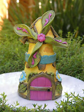 Miniature Dollhouse FAIRY GARDEN Furniture ~ Fairytale Windmill House Cottage