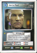 STAR TREK CCG WHITE BORDER PREMIERE 1995 BETA RARE CARD JEAN-LUC PICARD