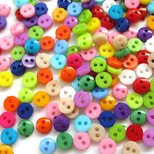 Wholesale 500pcs 6mm Mini Plastic Round 2 Holes Craft Clothe Sewing Button