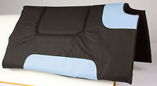 BLUE BLACK WITHER CUT OUT NON SLIP WOOL FELT CANVAS WESTERN HORSE SADDLE PAD