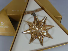 SWAROVSKI SCS WEIHNACHTSSTERN /CHRISTMAS ORNAMENT 2009 GOLDEN SHADOW GROß NEU