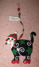 Ganz Cat Christmas Ornament - Wearing Red High Heel Shoes - Stars, Bling, Beads